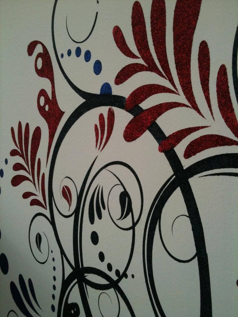 Applicazione tutorial stencil parete decorazione - Decorazioni stencil murali ...
