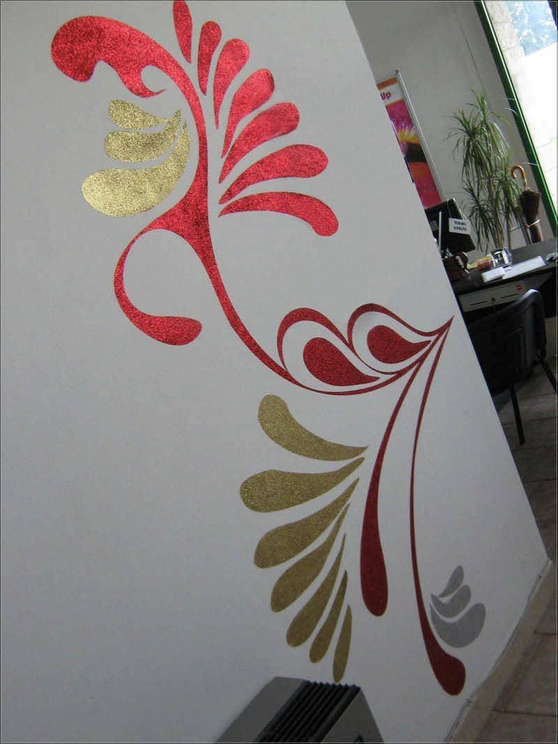 Stencil Muro Glitter Brillantini