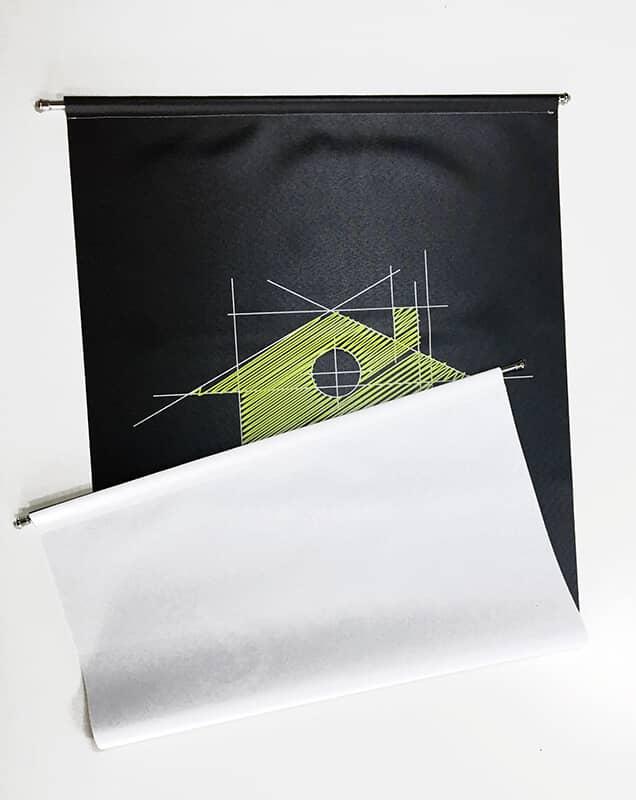 Tenda verticale personalizzata stampa