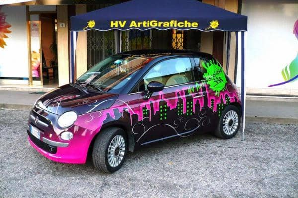 Fiat 500 Decorazione Car Wrapping