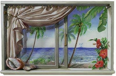 Trompe l 39 oeil finestra caraibi - Trompe l oeil finestra ...